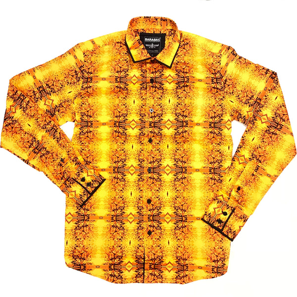 Barabas Fire Sunset Button Up Shirt