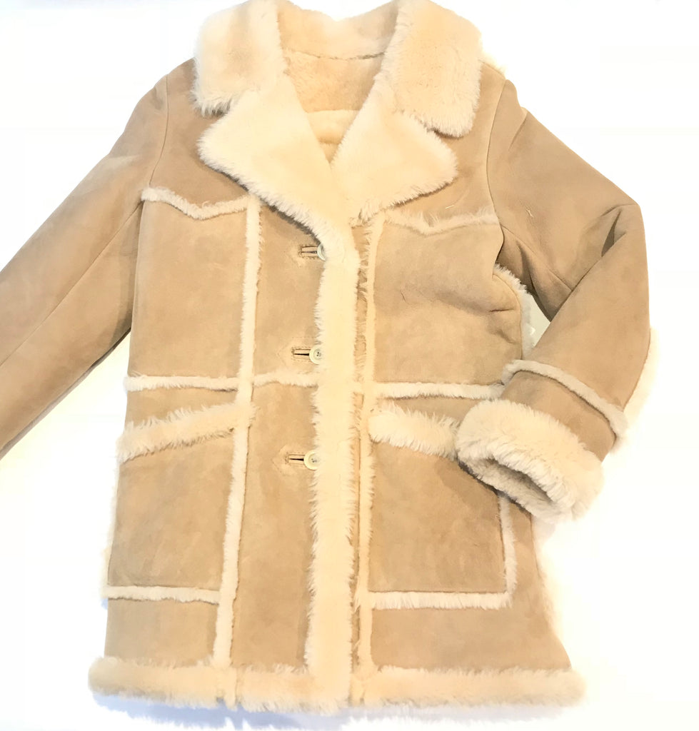 Kashani Ladies Natural Sherpa Lined Shearling Coat