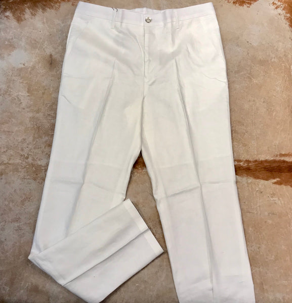 Prestige White Luxury Linen Pants - Dudes Boutique