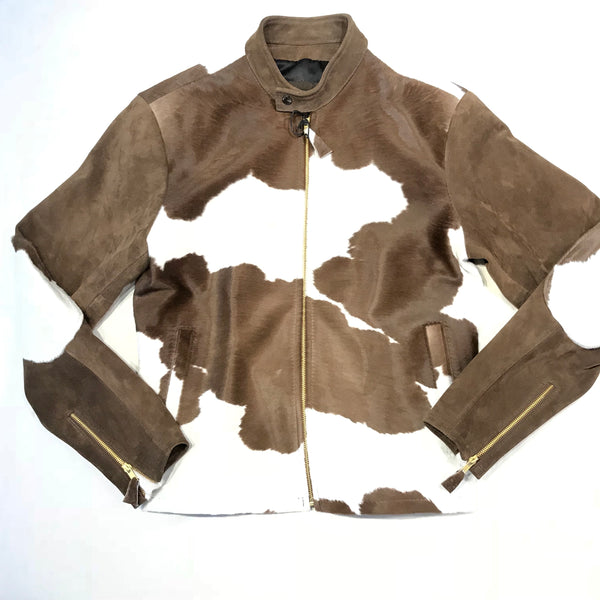 Kashani Pony Hair Suede Bomber Jacket - Dudes Boutique