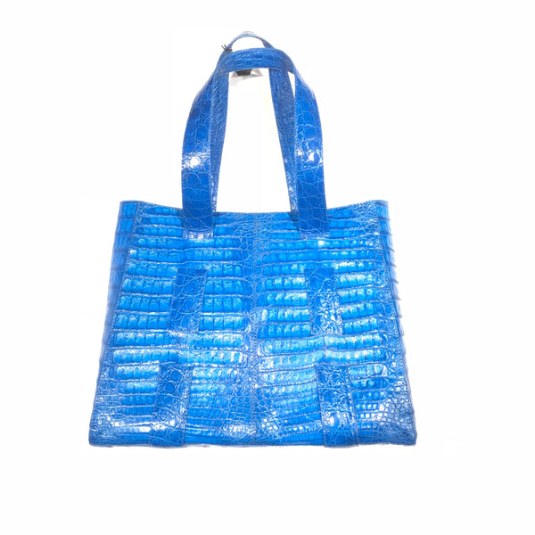 Kashani Baby Blue All Over Alligator Purse Handbag