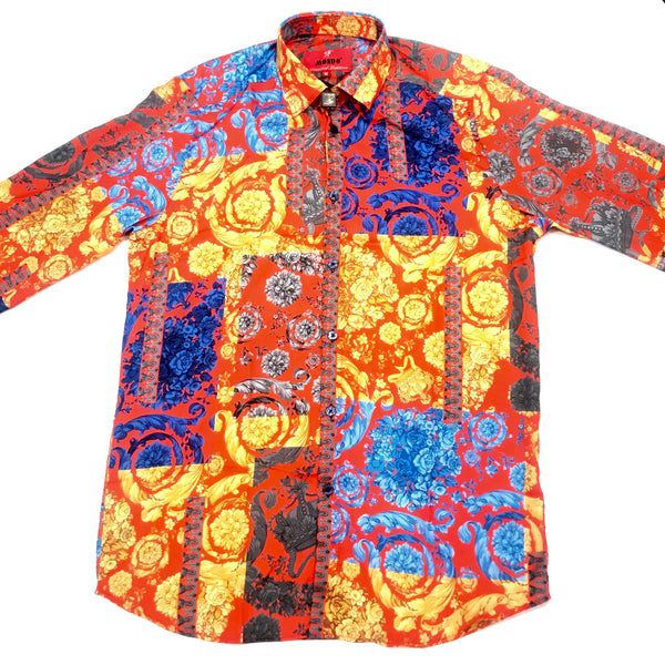 Mondo Vibrant Royal Button Up Shirt - Dudes Boutique
