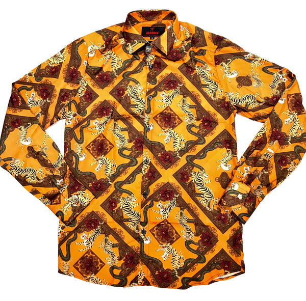 Mondo Chute and Tigers Button Up Shirt