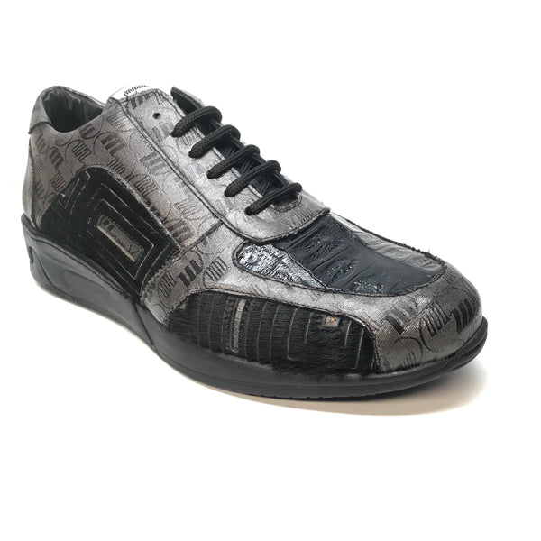 Mauri 8587 Charcoal Pony Baby Crocodile Sneakers