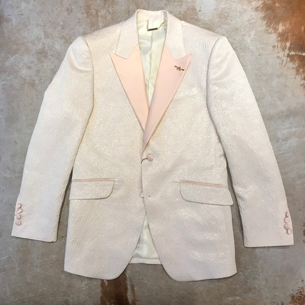 Barabas Peach Golden Shine Blazer