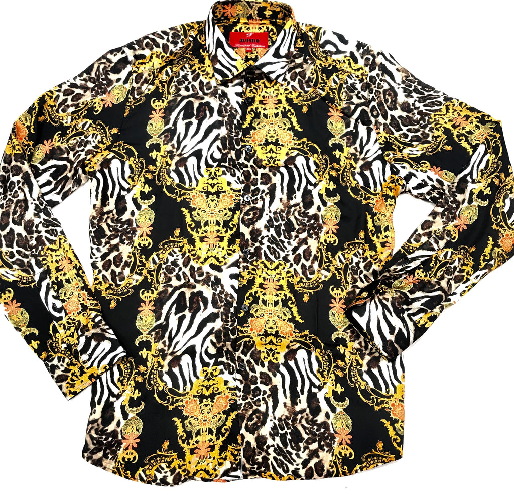 Mondo Panthera Royal Club Button Up Shirt