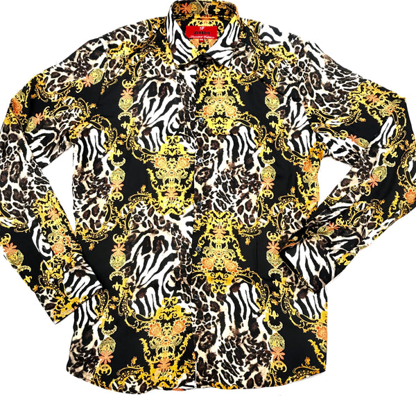 Mondo Panthera Royal Club Button Up Shirt - Dudes Boutique