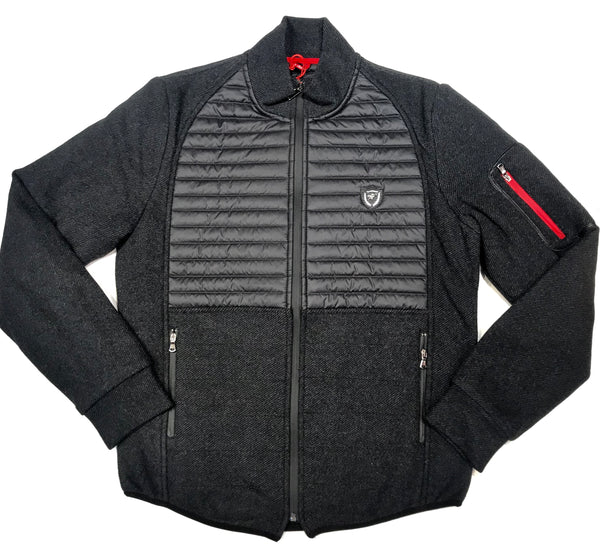 Mondo Charcoal Casual Ribbed Jacket