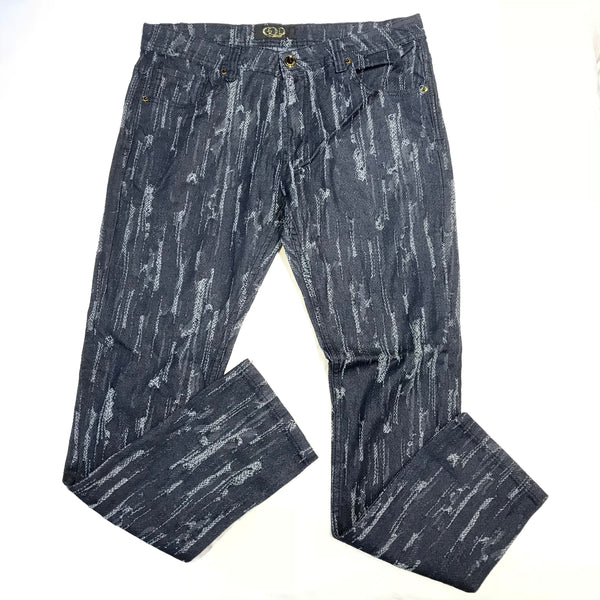 Gold Leaf Raw Destroyed Ripped Jeans - Dudes Boutique