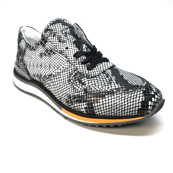 Sigotto Natural Embossed Python Sneakers - Dudes Boutique