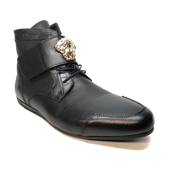 Sigotto Medusa Black Hightop Sneakers - Dudes Boutique
