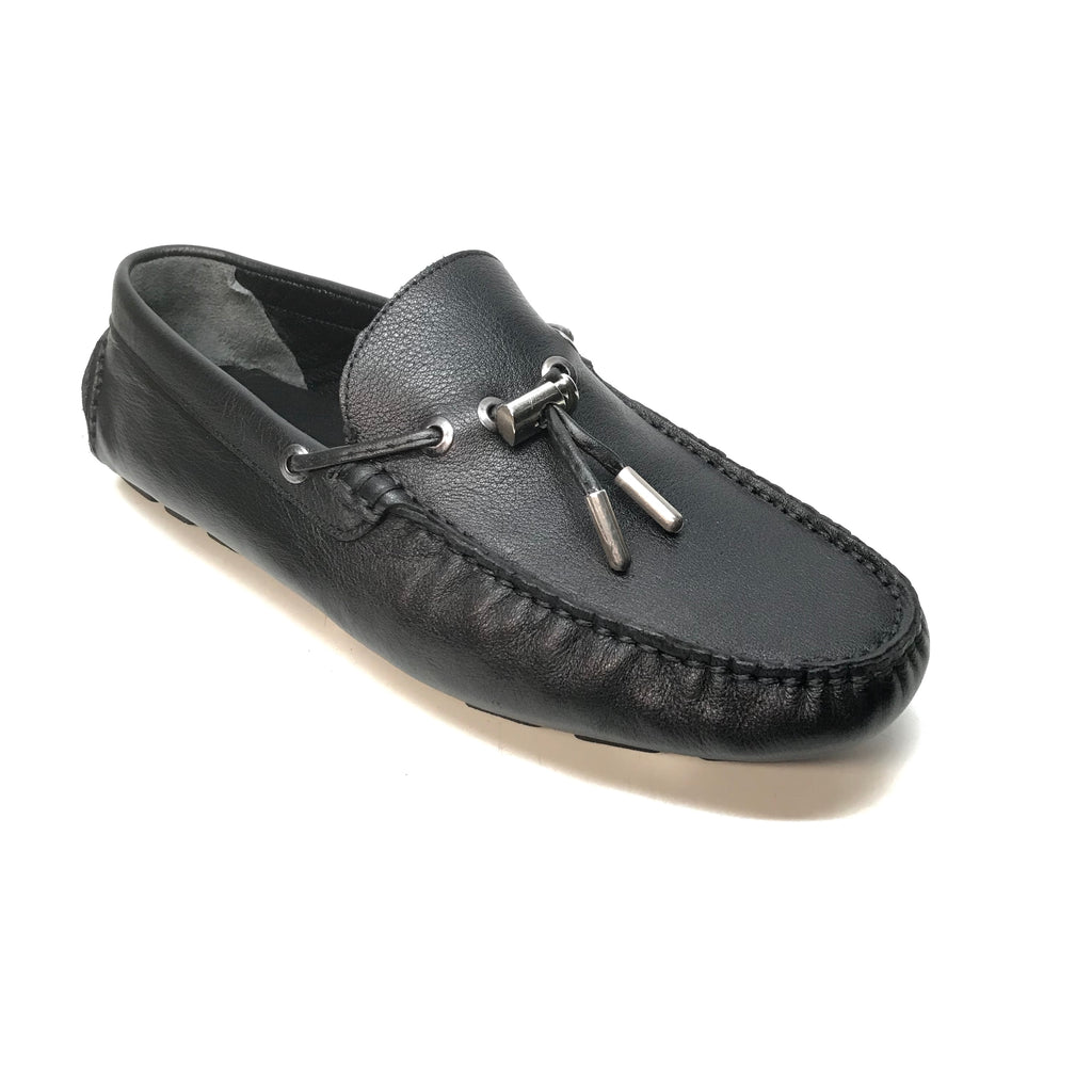 Sigotto Black Tassel Driver Loafers