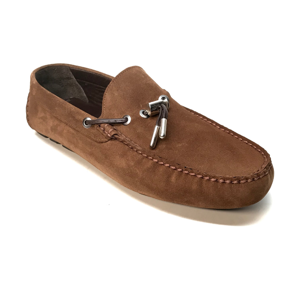 Sigotto Caffe Suede Tassel Driver Loafers