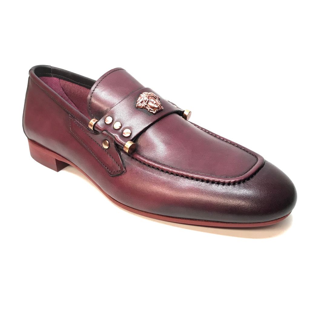 Sigotto Medusa Wine Penny Loafers - Dudes Boutique