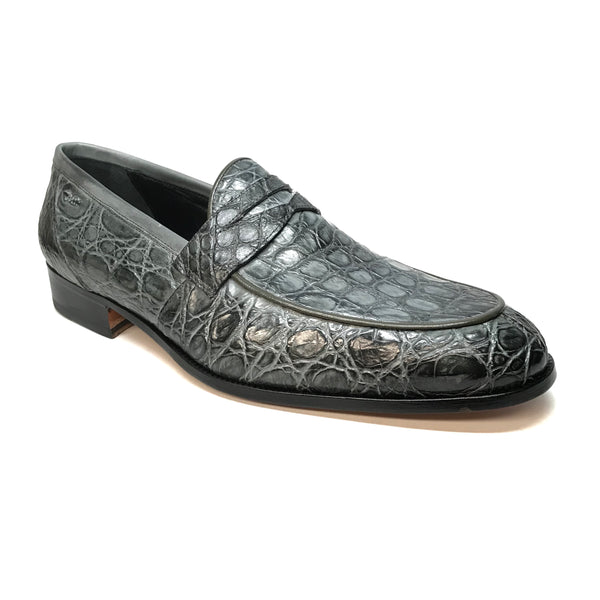 Mauri 4862 Forest Green Alligator Body Penny Loafers - Dudes Boutique