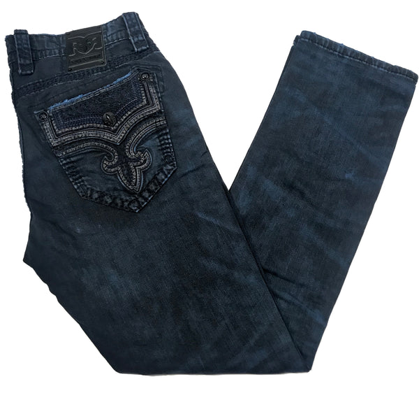 Rock Revival Goncalo Navy Denim Jeans - Dudes Boutique