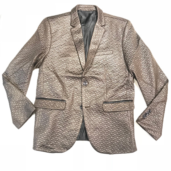 Barabas Espresso Quilted Shine 2-button Blazer