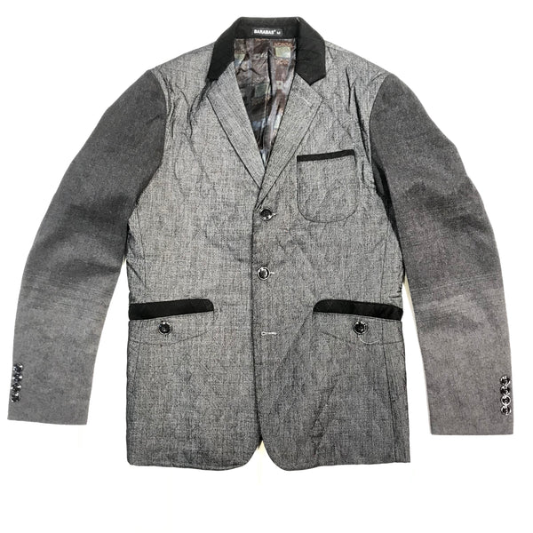 Barabas Charcoal Multi Pocket Quilted Blazer