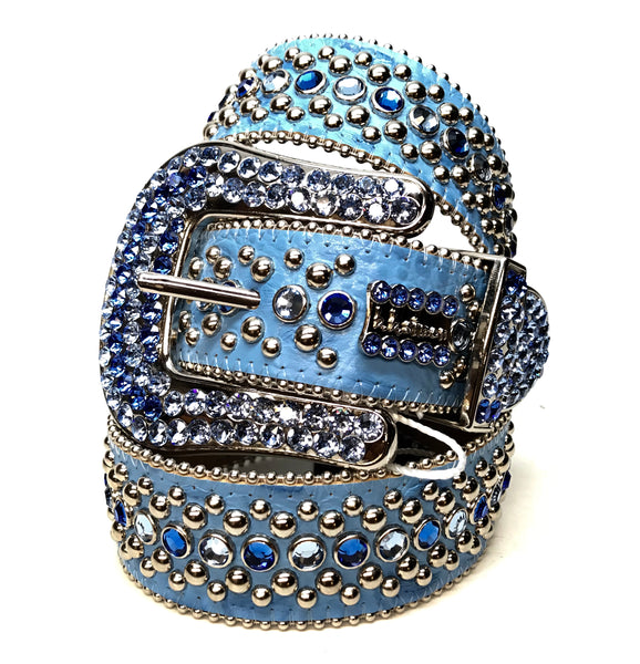 b.b. Simon Ocean Two Tone Swarovski Crystal Belt