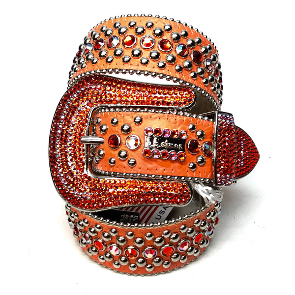 b.b. Simon 'Orange Fire' Two Tone Swarovski Crystal Belt