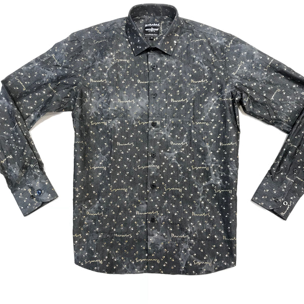 Barabas Denim Liquid Gold Button Up Shirt