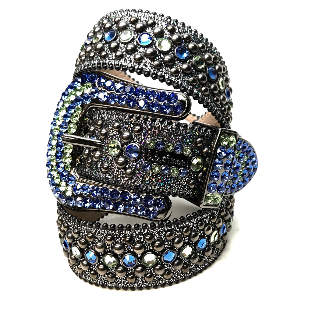 b.b. Simon 'Lime Galaxy' Fully Loaded Swarovski Crystal Belt