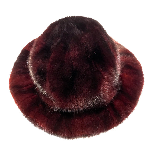 Kashani Wine Full Mink Top Hat