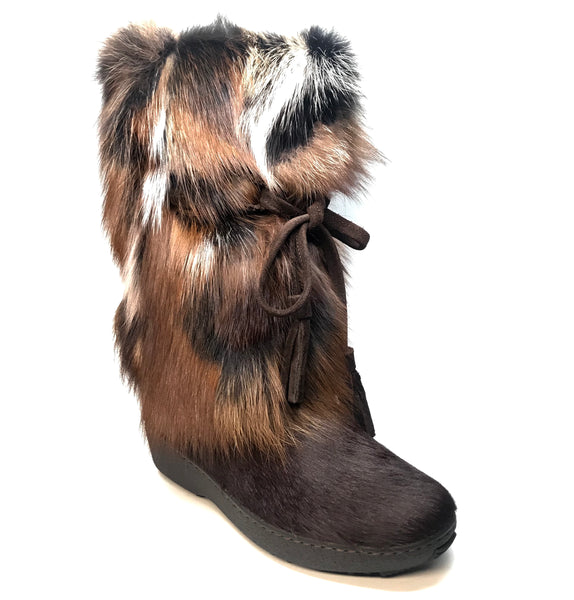 Pajar Kim Brown Fox Trot Fur Boots - Dudes Boutique
