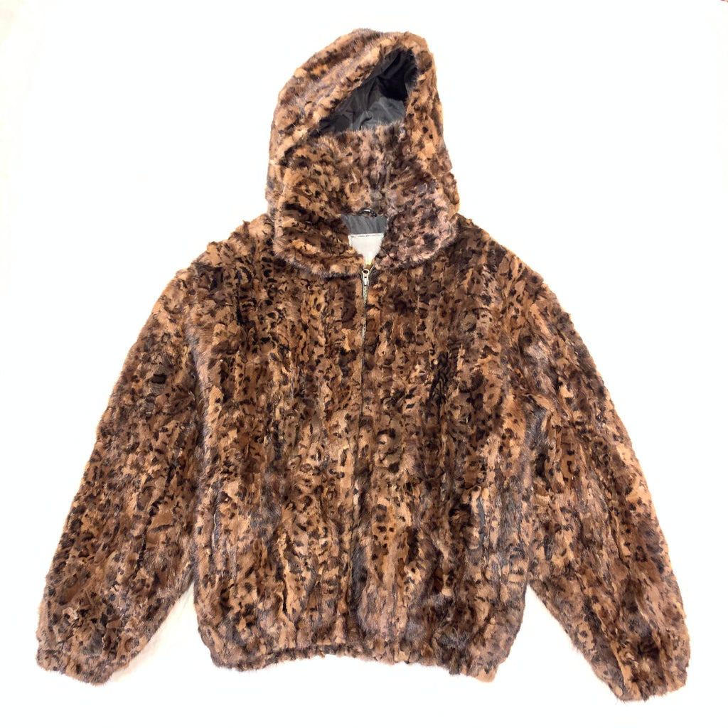 Kashani Men's Leopard Print Mink Fur Coat - Dudes Boutique