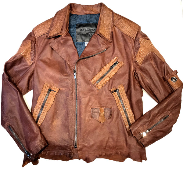 Kashani Raw Alligator Custom Biker Jacket