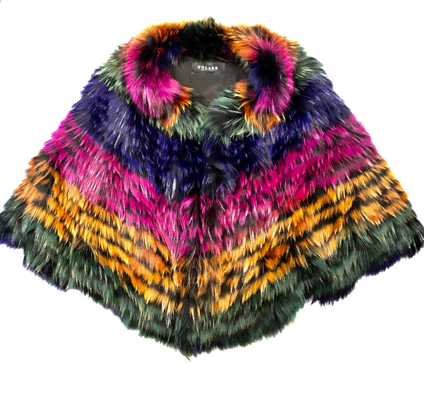 Volare Rainbow Full Fox Fur Coat