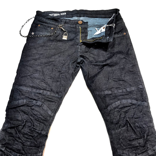 RS7 Wash Denim Slim Fit Distressed Jeans
