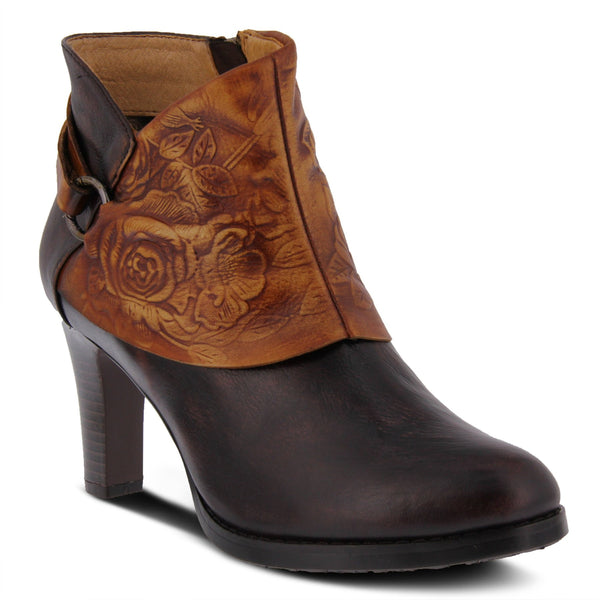L'ARTISTE Ladies Chocolate Brown Lora Bootie - Dudes Boutique