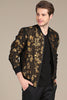 Mondo Gold Leaf Jacquard Jacket - Dudes Boutique