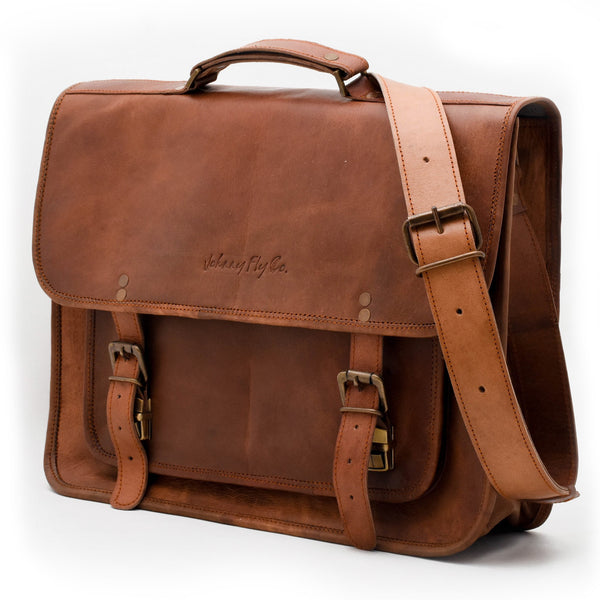 Johnny Fly Co. Leather Business Laptop Messenger