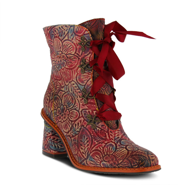 L'ARTISTE Ladies Red Multi Patrona Bootie - Dudes Boutique