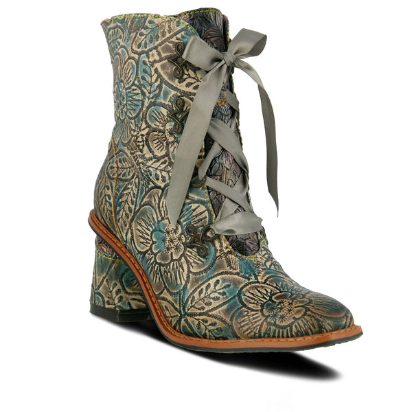 L'ARTISTE Ladies Teal Multi Patrona Bootie - Dudes Boutique
