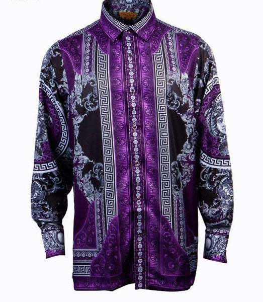 Prestige Purple Urkel Milan Button Up Shirt