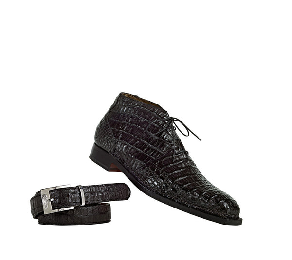"Mauri - 1167 ""Shakespeare"" All-Over Hornback Crown Ankle Boot - Dudes Boutique"