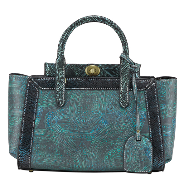 L'ARTISTE Ladies Teal Multi Blue Hand Bag