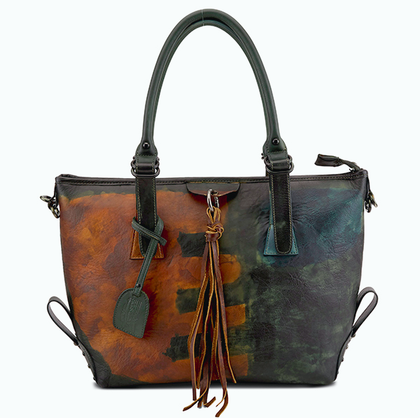 L'ARTISTE Ladies Teal Multi Fring Hand Bag
