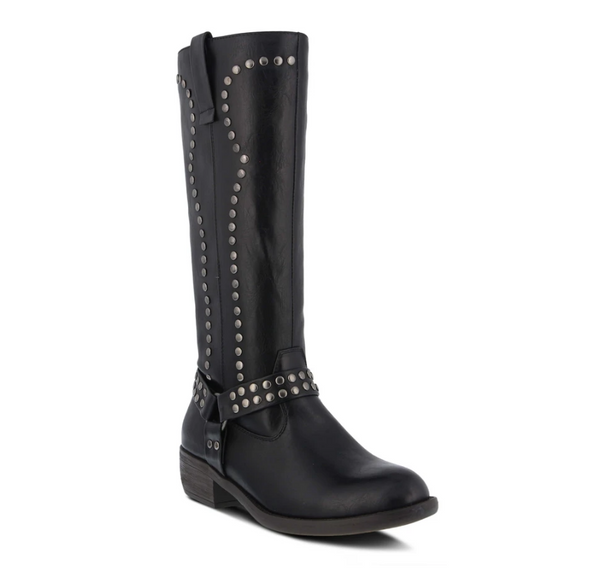 Patrizia 'CYCLECHIK-B' Ladies Black Studded Boots - Dudes Boutique