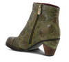 L'ARTISTE 'WATERLILY' Green Multi Leather Ankle Boots - Dudes Boutique
