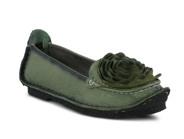 L'ARTISTE GREEN ROSE DEZI SHOES - Dudes Boutique