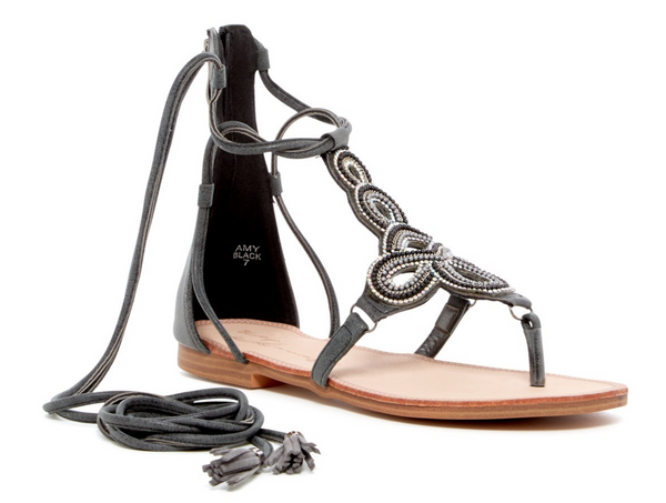 Vintage-Havana 'Amy' Women's Crystal Design Sandals