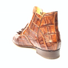 Mauri 4880 Cognac Genuine Baby Crocodile / Hornback Tail Hand Painted Boots
