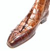 Mauri 4880 Cognac Genuine Baby Crocodile / Hornback Tail Hand Painted Boots - Dudes Boutique