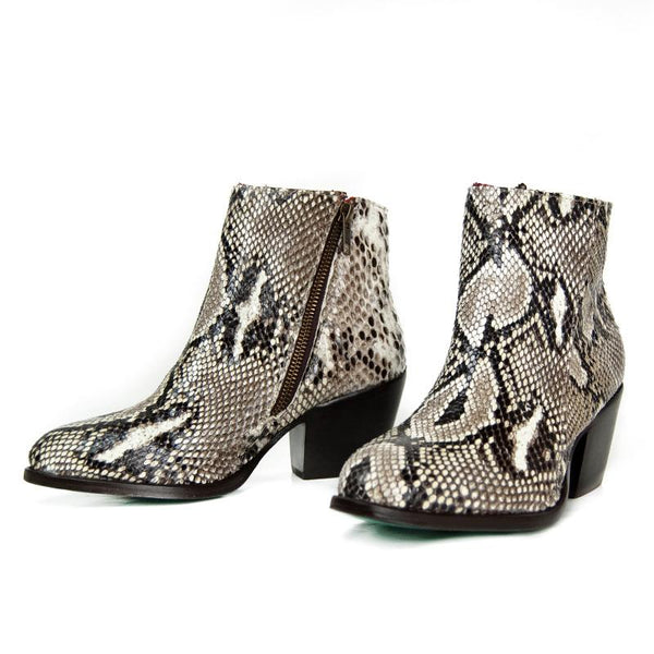 Alcala's Women's Natural Python Elia Ankle Boots - Dudes Boutique