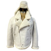 Jakewood - Shearling & Cow Racing Aviator Jacket - Dudes Boutique - 4