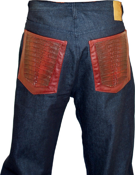 G-Gator Hornback Alligator Jeans 0922/1 - Dudes Boutique